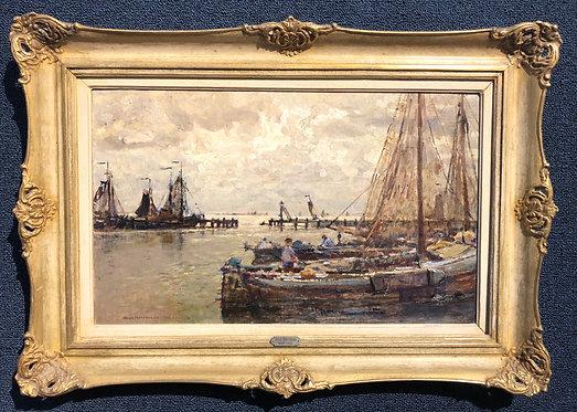Volendam Harbour By: Hans Hermann