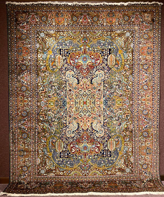 "10'2""X13'1"" Very Fine Persian Silk Warp Tabriz"