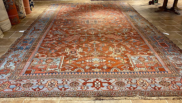 "11'X18'6"" Semi-Antique Persian Heriz"