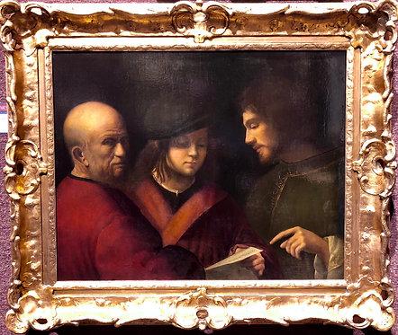 """After Giorgione """"Le Tre Eta Dell'uome"""