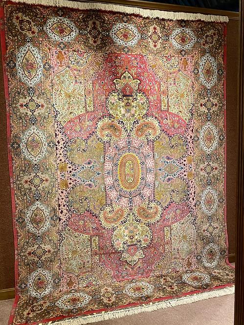 "9'9""X13'6"" Very Fine Silk & Wool Persian Tabriz"