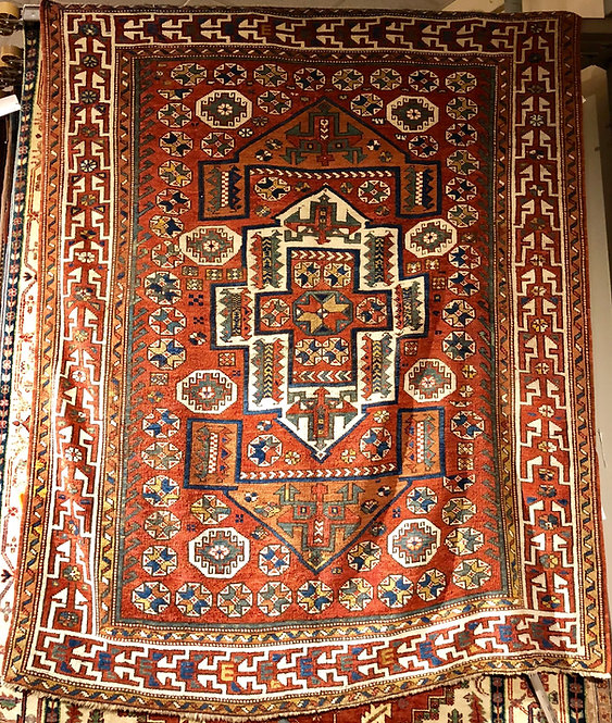 "5'8""x7' Antique Turkish Bergama"
