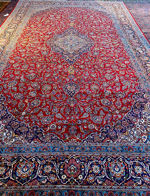 """11'1""""X18'3"""" Red Persian Keshan"""
