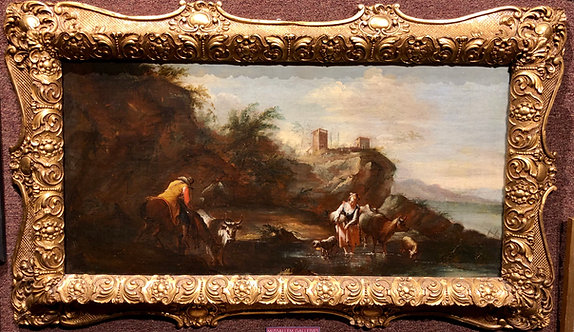 Italian Landscape Attributed to Giuseppe Zais