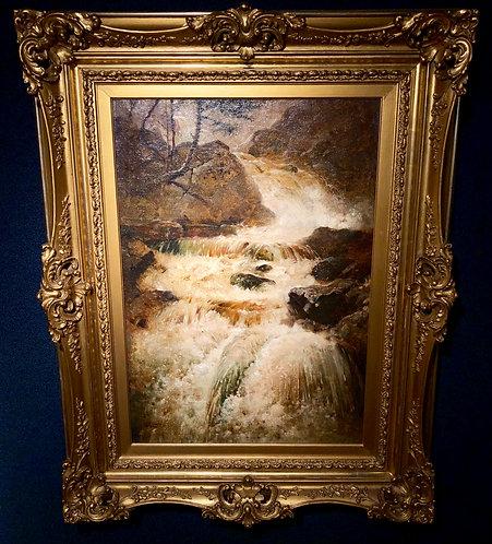 Hudson School Waterfall By: Charles Russell Loomis