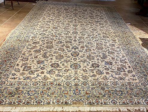 "10'1""X18'7"" Ivory Blue Persian Keshan"