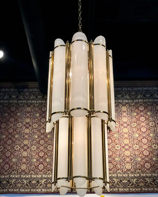 Art Deco Chandelier from the Empire State Building, Set of 3