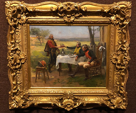 """""""Soldiers Having a Drink in the Garden"""" By: Paul Emile Boutigue"""