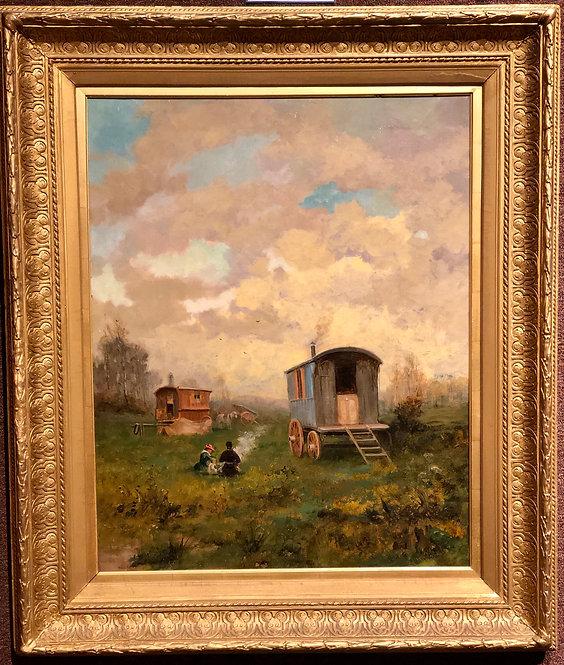 The Gypsy Caravan in a Landscape By: Rudyard Kipling