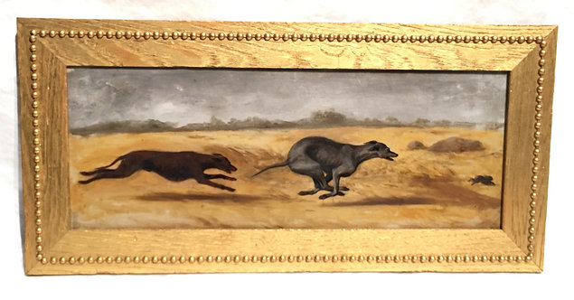 GREYHOUND CHASING PREY BY J.H. BEARD