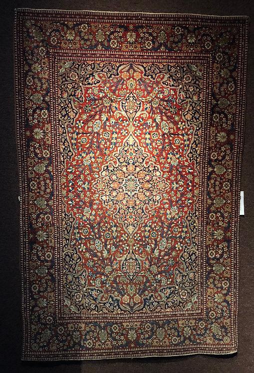 "4'7""X6'7"" Antique Persian Mohtasham Kashan"