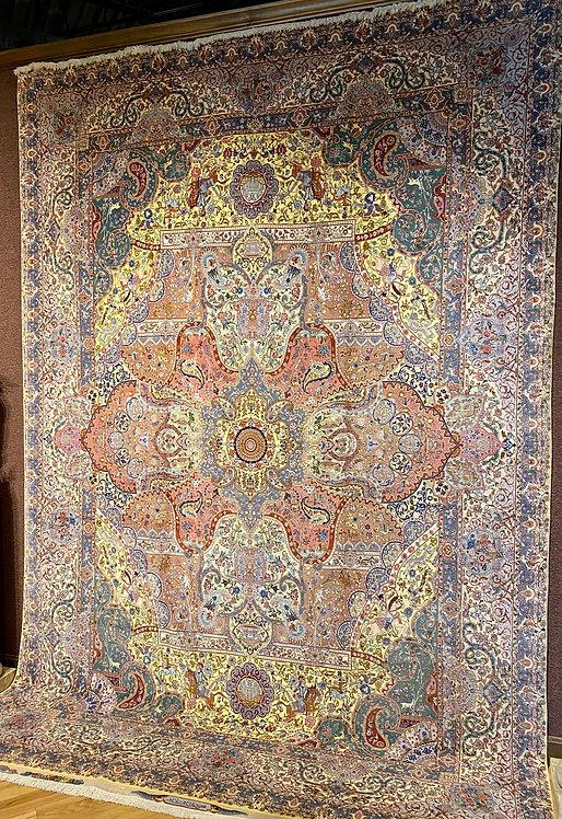 "9'8""X14'0"" Very Fine Persian Silk Warp Tabriz"