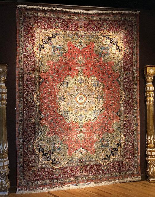 """8'4""""X11'8"""" Persian Fine Silk Warp Tabriz"""