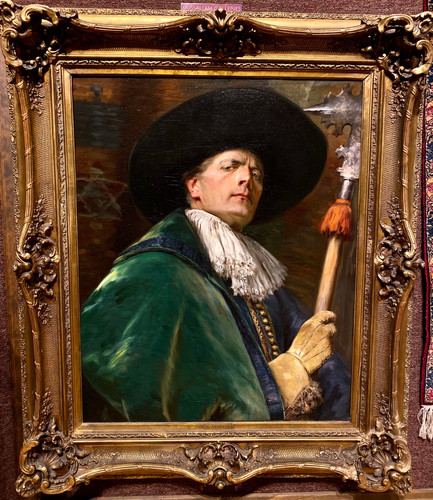 Cavalier In A Green Coat By Alex De Andreis Mussallem