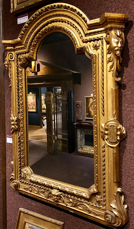 Large 19th Century Carved Gilded Gold Mirror