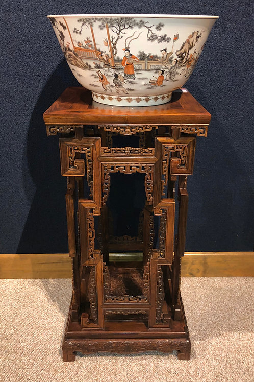 Oriental Antiques (Hand Carved Rosewood Stand)