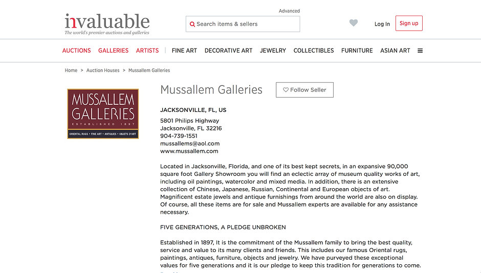 MUSSALLEM GALLERIES AUCTIONS