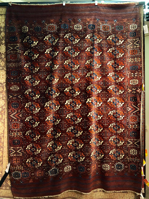 "7'X9'5"" Red Antique Turkmenistan Bohkara"