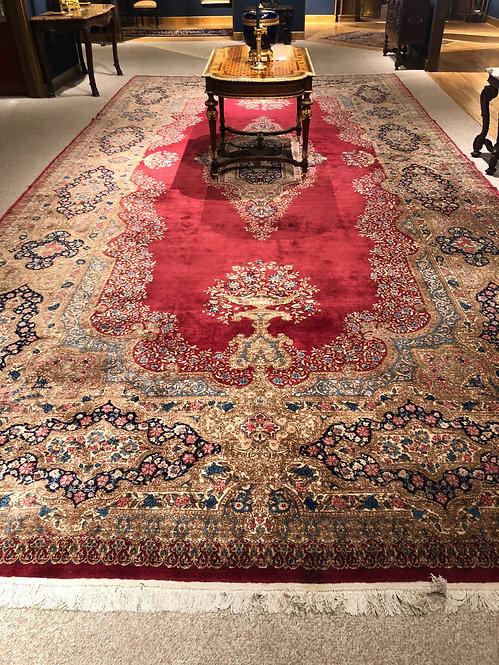 """11'6""""X23' Antique Persian Kerman"""