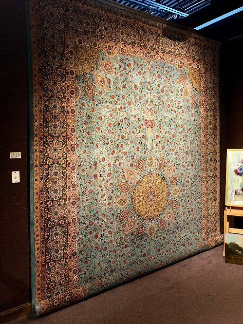 "11'6""X16'2"" Persian Tabriz Silk and Wool"