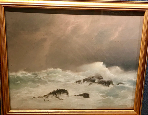 Seascape By Alfred Fred August Felix Bachman