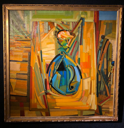 """Artist Self Portrait with Easel"" by: Ralph J. Gagnon"