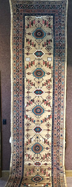 "3'7""x13'4"" Antique Camel Hair Serab Runner"