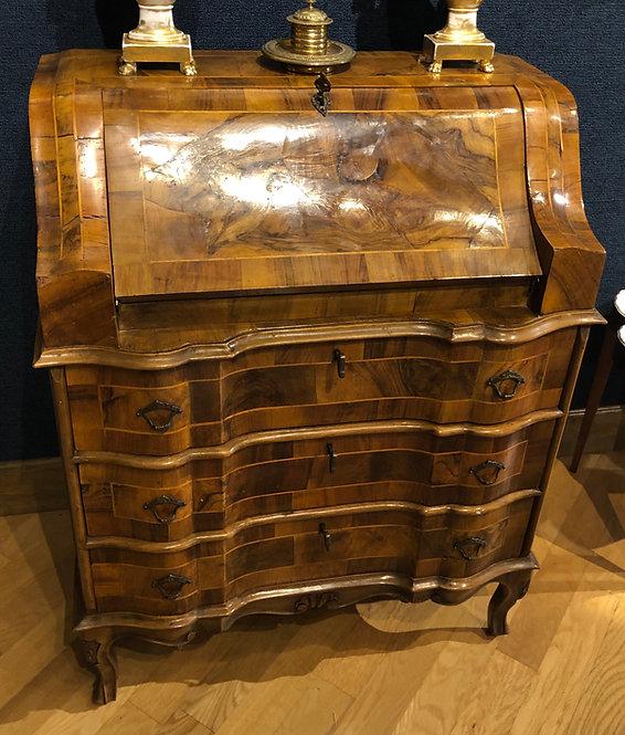 Antique Inlaid Wood Desk