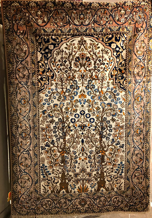 "4'9""X6'10"" Persian Bakhtiari Prayer Rug"