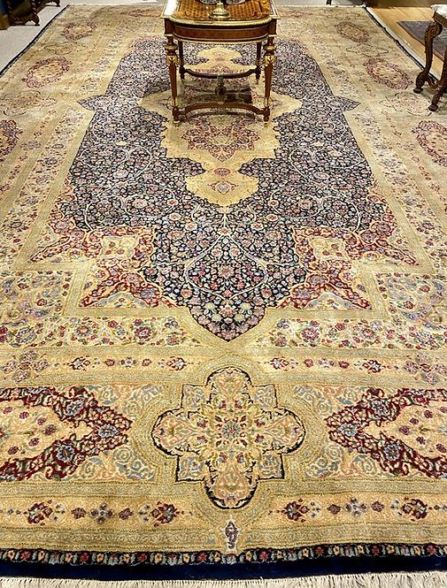 "13'11""X23'5"" Semi-Antique Persian Atiyeh Kerman Deluxe"