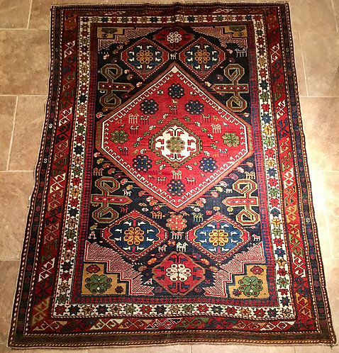 "4''1""""X5''8"""" ANTIQUE KUBA SHIRVAN"