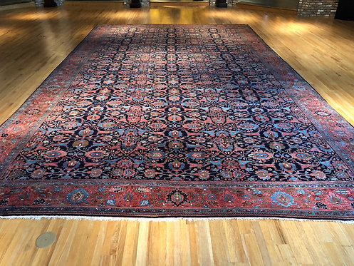 "14'2""X23'7"" Antique Persian Blue Bidjar"