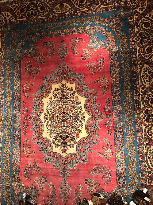 "9'x12'6"" Semi-Antique Persian Cyrus Crown Kerman"