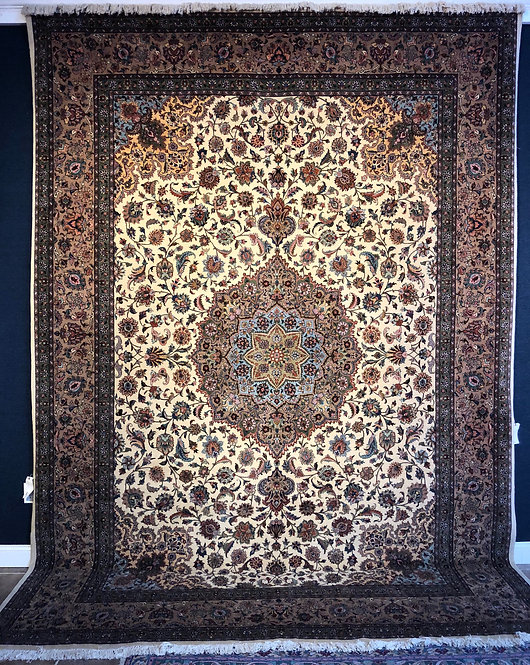 "9'9""X13'9"" Semi-Antique Persian Tabriz"