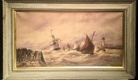 Thomas Bush Hardy Seascape Watercolor