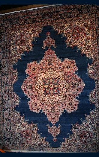 10x13.4 Antique Blue Kerman