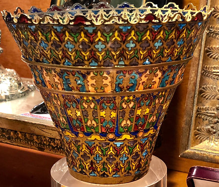Transparent Plique-a-jour Lamp Shade, Russian, circa 1850