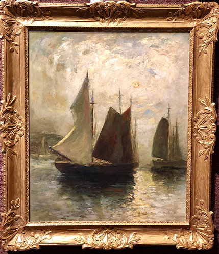 Sailboats in the Moonlight By: Paul King