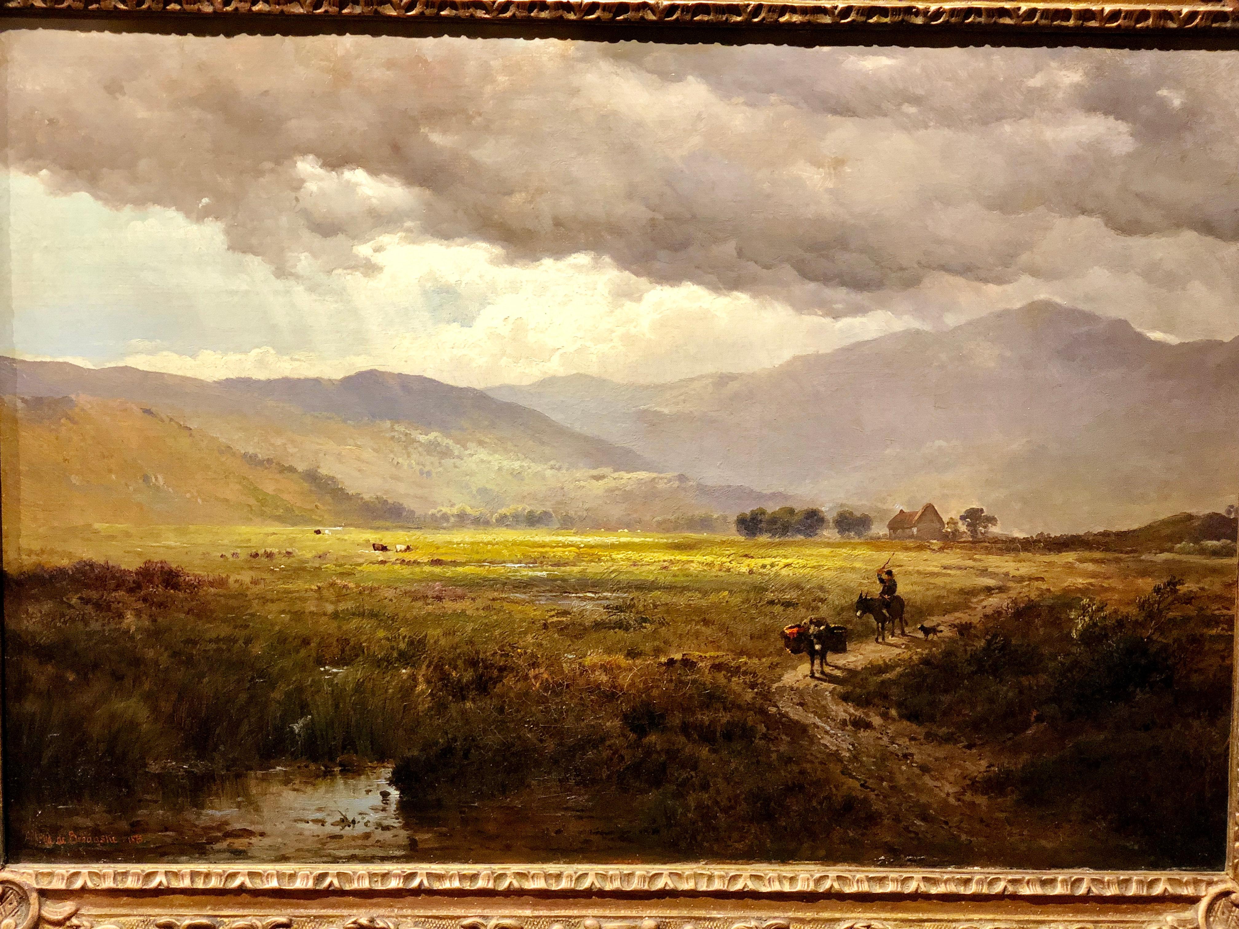 Stormy Mountain Scene By Alfred De Breanski Mussallem