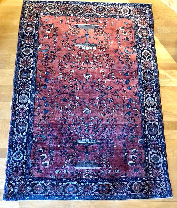 "4'2""X5'10"" Antique Fereghan Sarouk"
