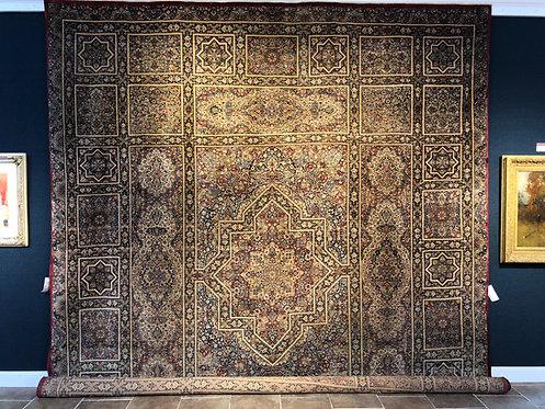 "12'8""X15'8"" Antique Atiyeh Kerman Mosque Design"