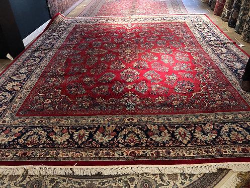 """14'2""""X16'8"""" Semi-Antique Red Imperial Sarouk"""