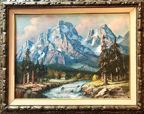 Mountain Landscape by Alexander Dzigurski