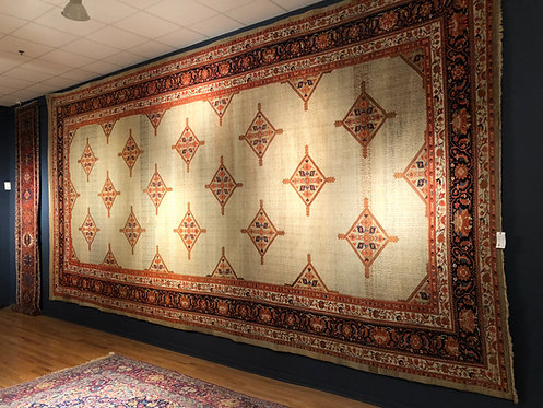 "12'6'X24'6""  Antique Persian Wool And Camel Hair Malayer"