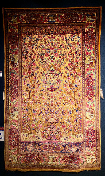 Antique Persian Silk Souf Keshan