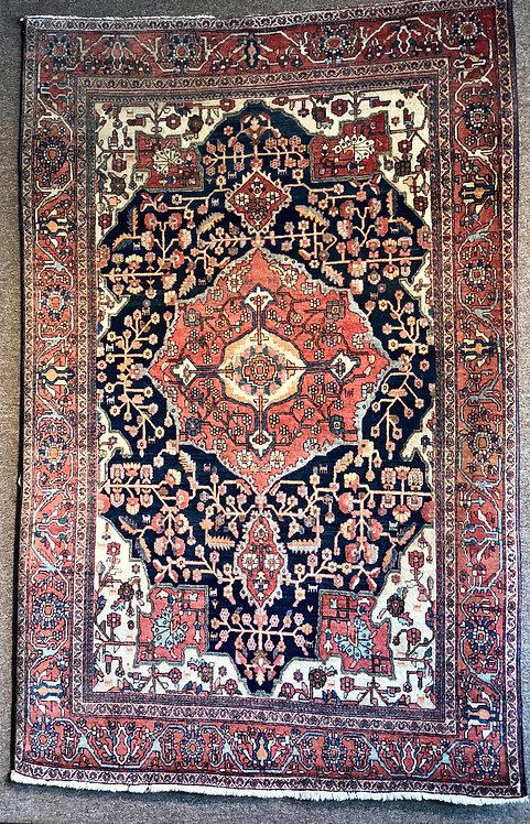 4'X6' Antique Persian Farahan Sarouk