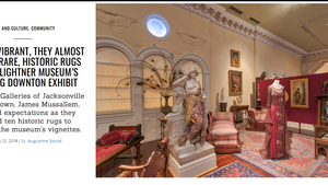 RUGS SO VIBRANT, THEY ALMOST GLITTER: RARE, HISTORIC RUGS USED IN LIGHTNER MUSEUM'S DRESSING DOWNTON