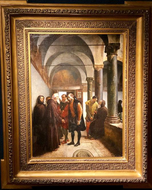 Monks and Nobleman Conversing By: Thure Nikolaus von Cederstrom