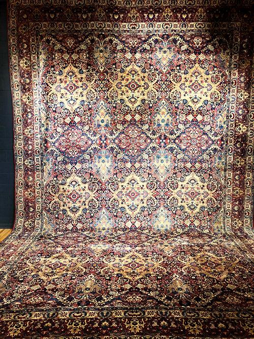 """13'11""""X21'5"""" Antique Persian Kerman"""