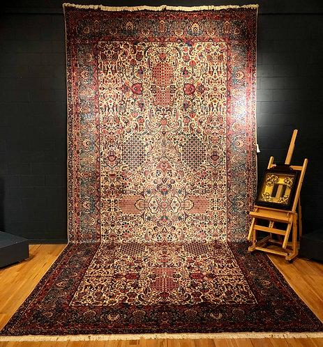 """10'4"""" X 21'8"""" Antique Persian Kerman"""